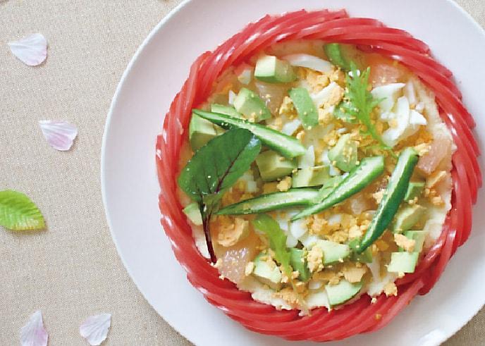「かわいすぎて食べられない! サラダケーキ」の作り方画像 8枚目
