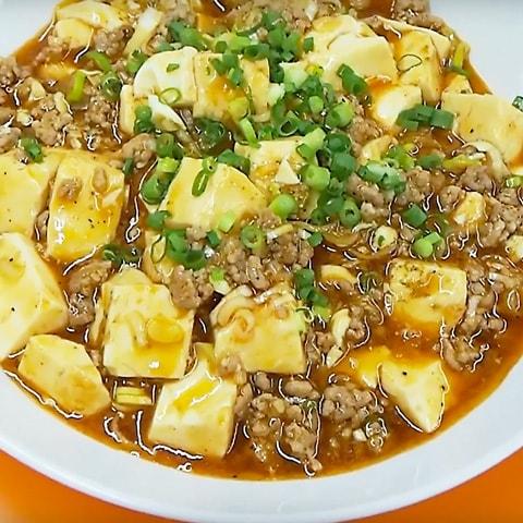 スンドゥブチゲスープで作った麻婆豆腐