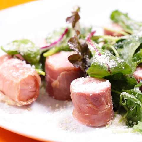 魚肉ソーセージの生ハム巻き