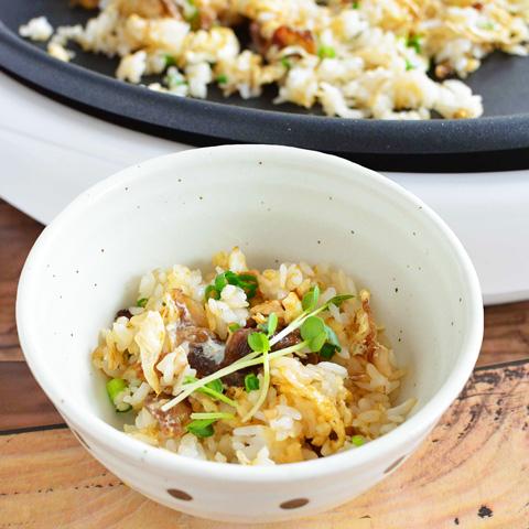 「焼きすき」のシメの「炒めご飯」