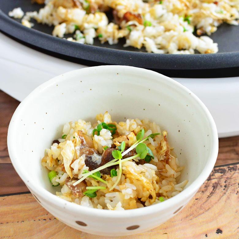 「焼きすき」のシメの「炒めご飯」の写真