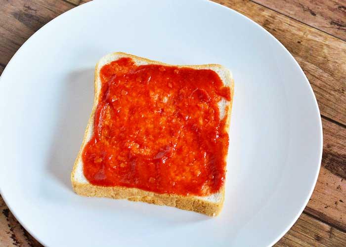 「ミイラのピザパン」の作り方画像 1枚目