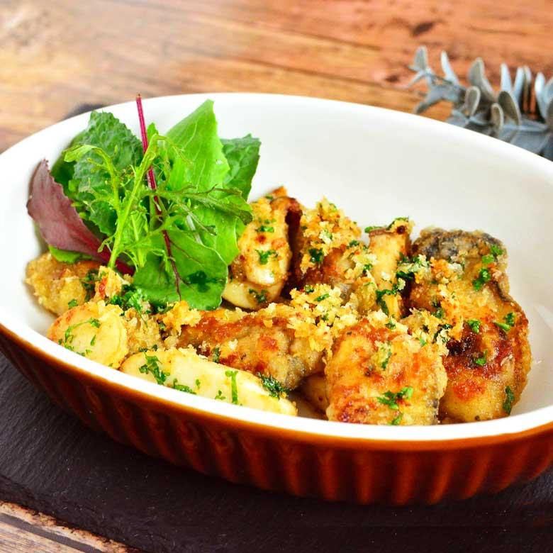 これは絶品!! 牡蠣とエリンギのパン粉焼きの写真