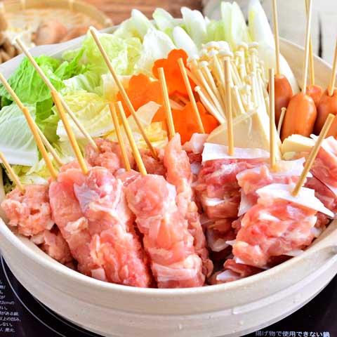 焼き鳥串で簡単☆ いろいろ串鍋☆