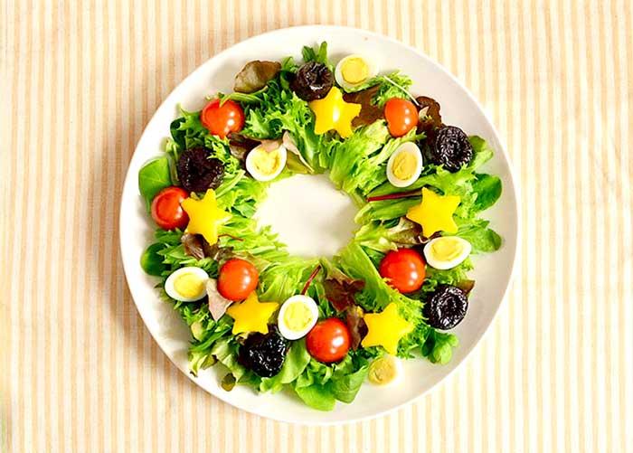「鮮やか! リースサラダ」の作り方画像 3枚目