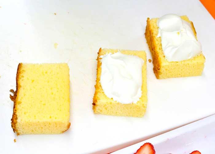 「カステラで、かわいいミニケーキ♡」の作り方画像 2枚目