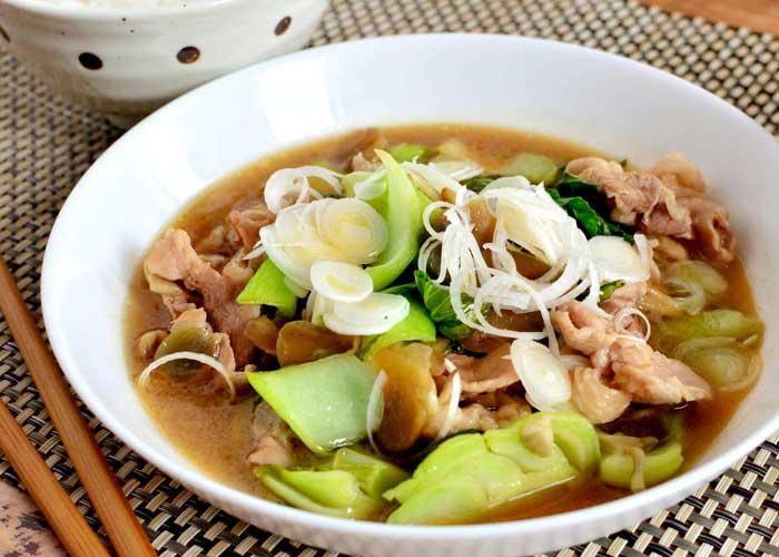 「豚肉とチンゲン菜のやわらか中華煮」の作り方画像 6枚目