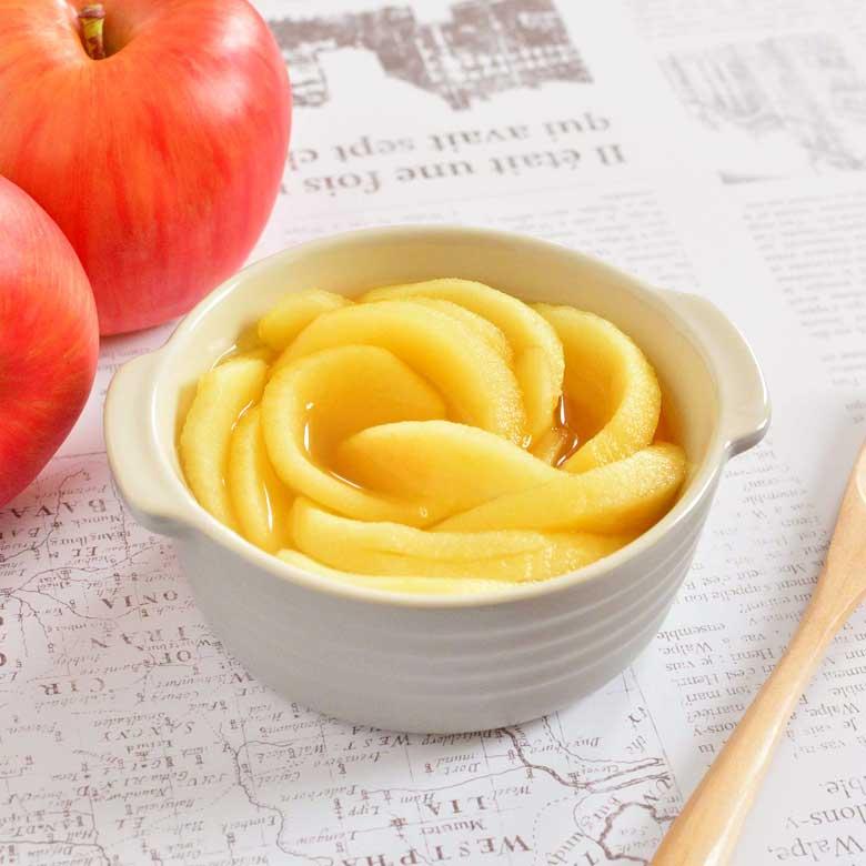 湯せんで作れる! 甘くて美味しい♡リンゴのコンポートの写真