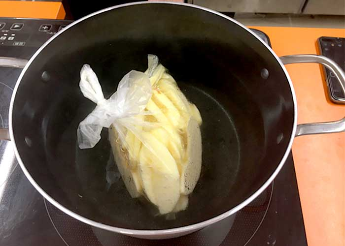 「湯せんで作れる! 甘くて美味しい♡リンゴのコンポート」の作り方画像 4枚目