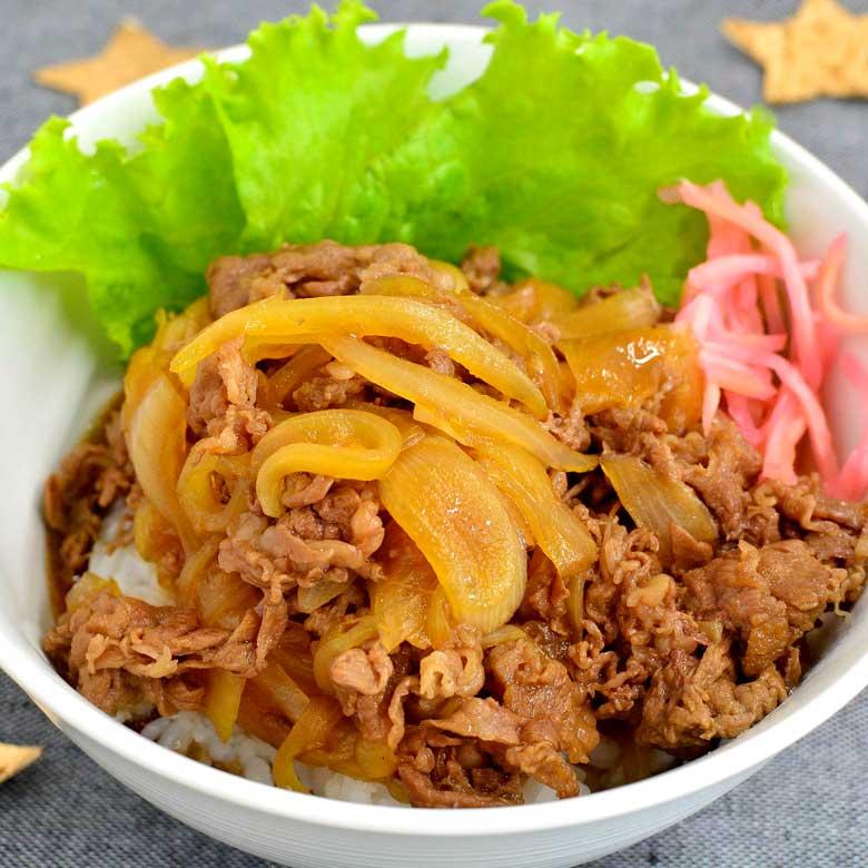 ガッツリ食べたい!王道の牛丼の写真