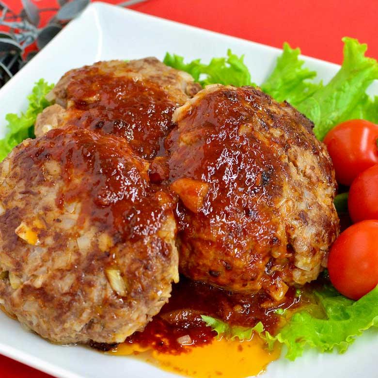 ひき肉を使わずやわらかハンバーグの写真
