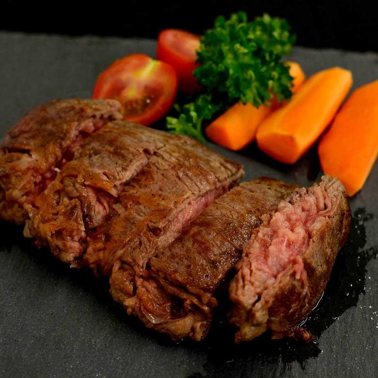 牛肉切り落としで作る絶品ステーキ!の写真