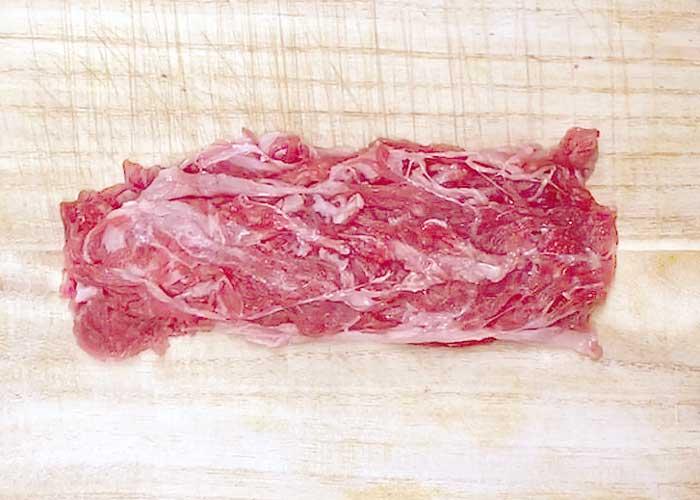 「牛肉切り落としで作る絶品ステーキ!」の作り方画像 1枚目