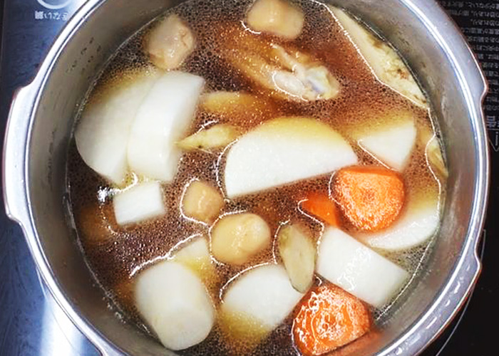 「ほっこり味しみ♪ 手羽中の煮物」の作り方画像 4枚目