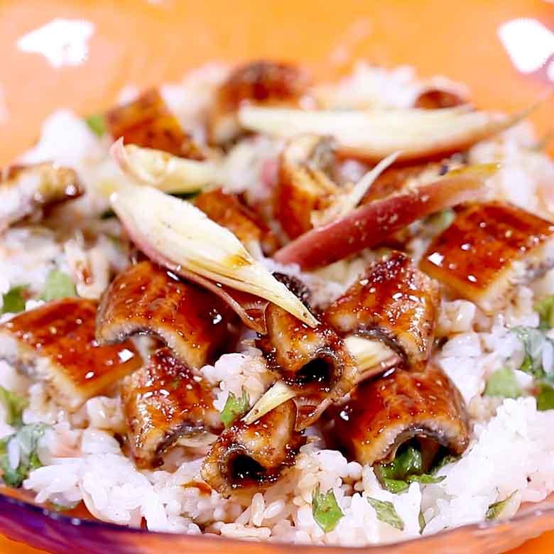 うなぎと茗荷の散らし寿司の写真
