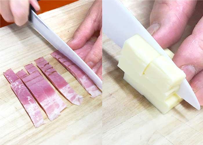 「アイラップでふんわり!湯せんで作るベーコンチーズ蒸しパン」の作り方画像 1枚目