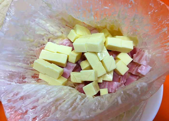 「アイラップでふんわり!湯せんで作るベーコンチーズ蒸しパン」の作り方画像 2枚目