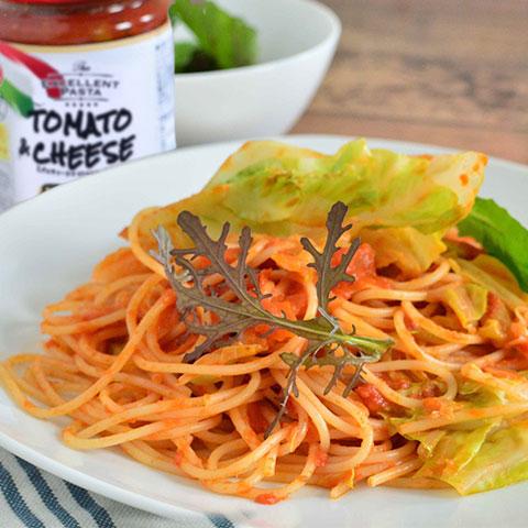 リコッタチーズ香るトマトソースのクリーミースパゲッティ