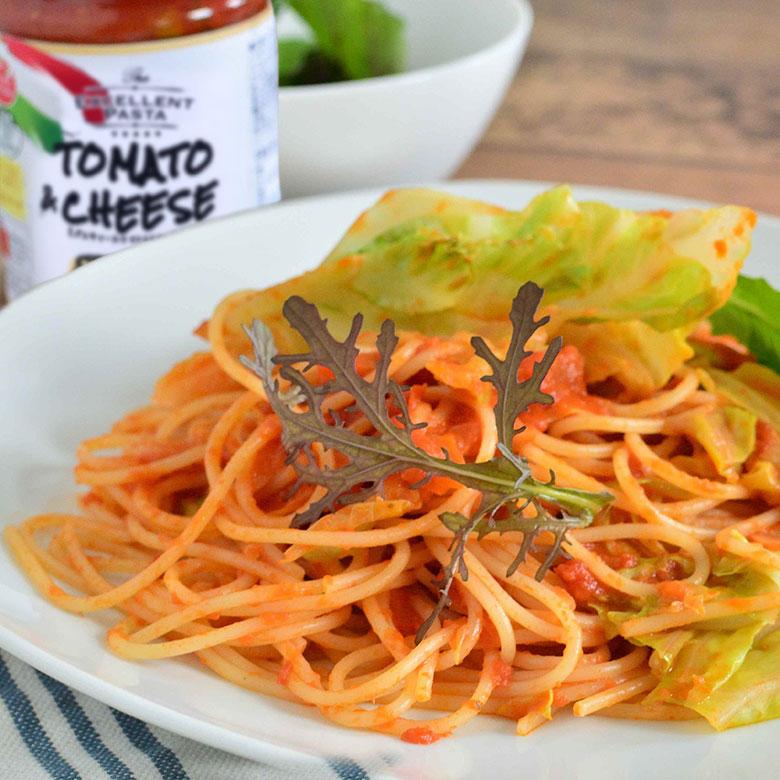 リコッタチーズ香るトマトソースのクリーミースパゲッティの写真