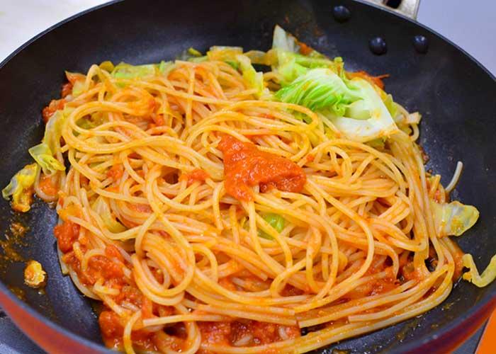 「リコッタチーズ香るトマトソースのクリーミースパゲッティ」の作り方画像 5枚目
