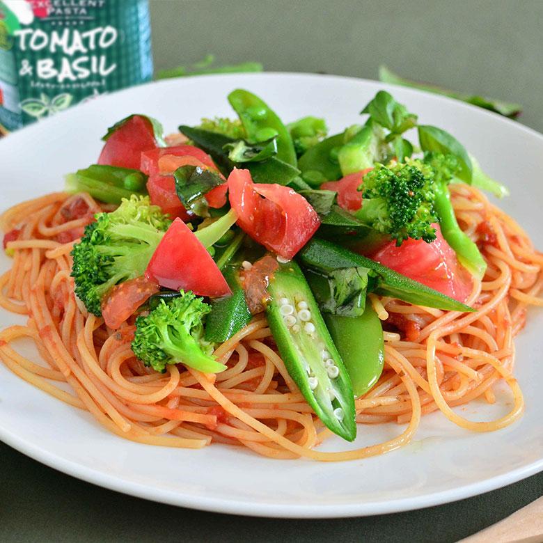 バジル香るトマトソースのフレッシュスパゲッティの写真