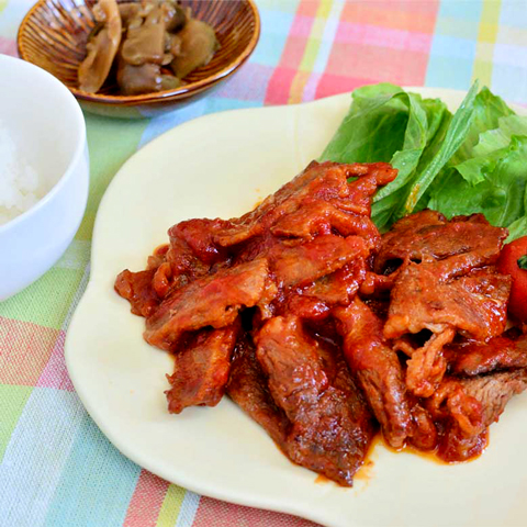 爽やかな甘みが美味しい☆ 牛肉のケチャップ炒め!