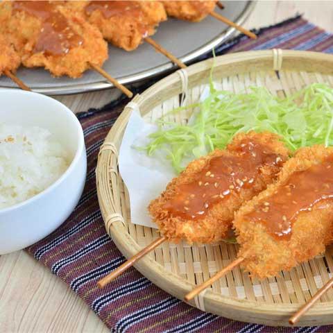 我が家の定番にしたい! 鶏もも串で絶品串カツ!