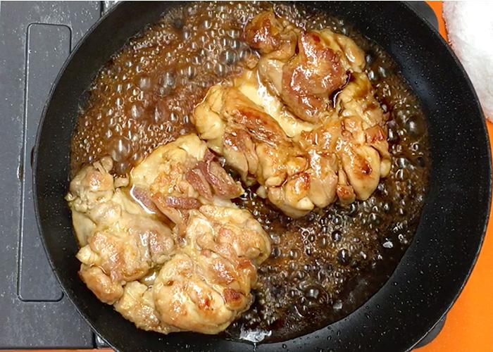 「濃厚ダレで絶品! 鶏もも肉の黒酢テリヤキ」の作り方画像 5枚目