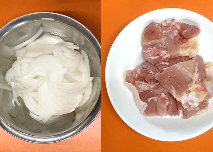 「カンタン黒酢で作る、お肉ふっくら甘酢丼☆」の作り方画像 1枚目