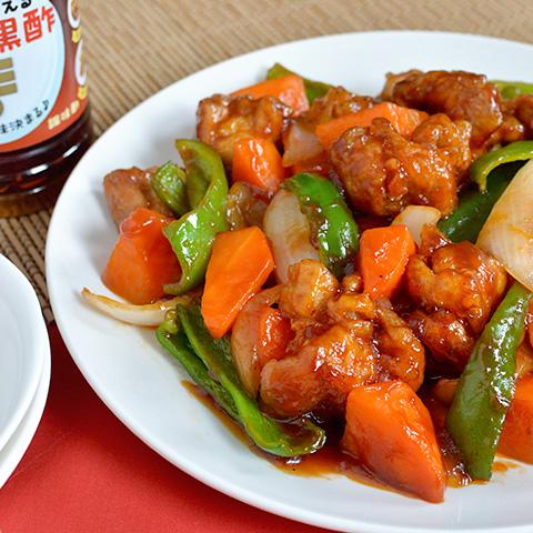 カンタン黒酢で作る、甘いソースのまろやか酢鶏☆