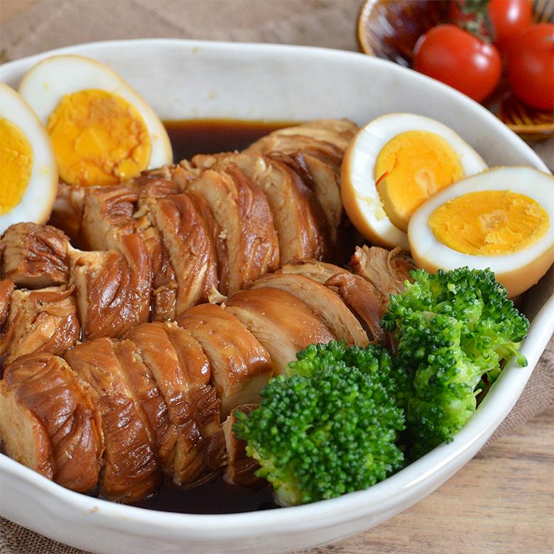 冷めてもOK! カンタン酢で作るやわらか鶏チャーシューの写真