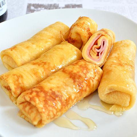 お弁当やおやつに! やさしい味のハムとチーズのクレープ