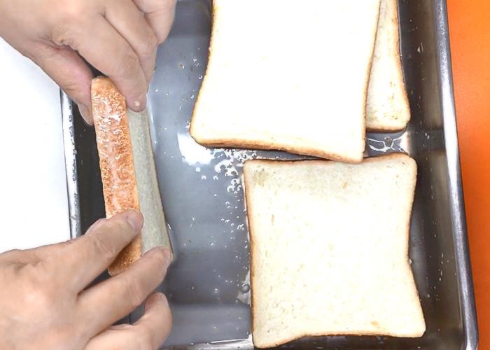 「トロトロ食感でみみまでおいしい♪ ハム&チーズフレンチトースト」の作り方画像 2枚目
