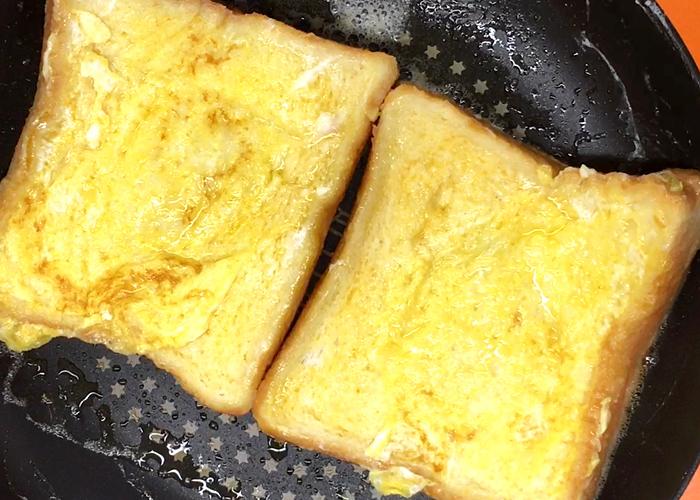 「トロトロ食感でみみまでおいしい♪ ハム&チーズフレンチトースト」の作り方画像 4枚目