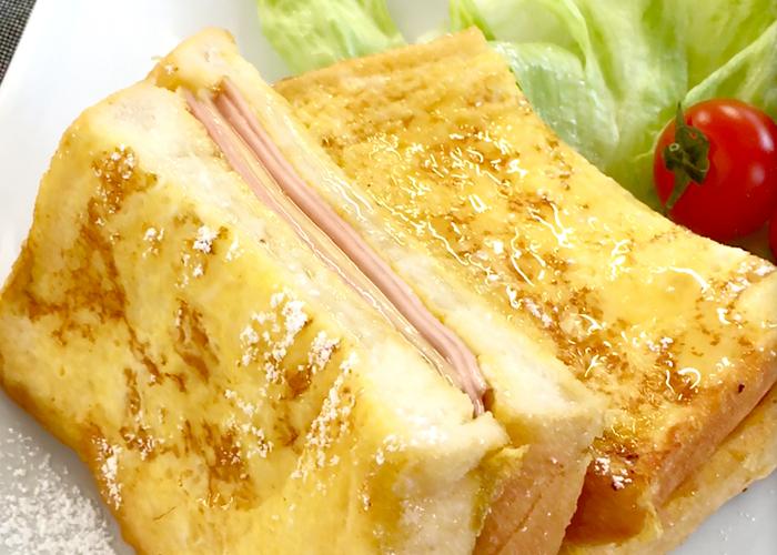 「トロトロ食感でみみまでおいしい♪ ハム&チーズフレンチトースト」の作り方画像 6枚目