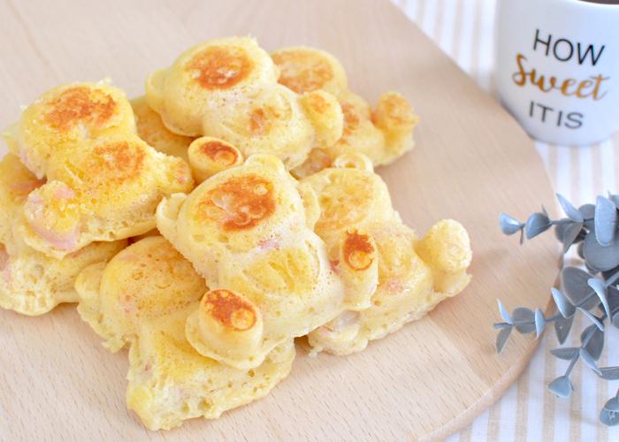 「しっとりふわふわ! やさしい甘みのチーズ・ハムワッフル」の作り方画像 6枚目