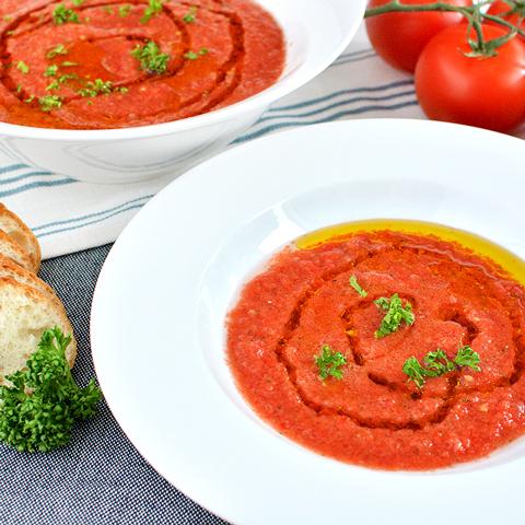 つぶつぶ野菜とトマトの冷製スープ「ガスパチョ」
