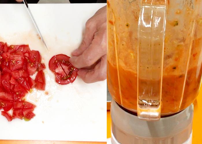 「つぶつぶ野菜とトマトの冷製スープ「ガスパチョ」」の作り方画像 3枚目