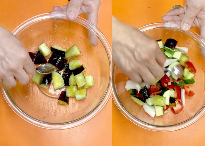 「レンジで時短! 野菜の旨みぎゅっとラタトゥイユ」の作り方画像 2枚目