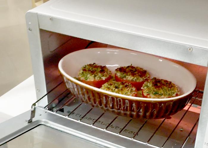 「トースターで5分! ジューシートマトのサクサクパン粉焼き」の作り方画像 3枚目