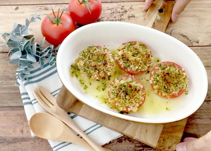 「トースターで5分! ジューシートマトのサクサクパン粉焼き」の作り方画像 4枚目