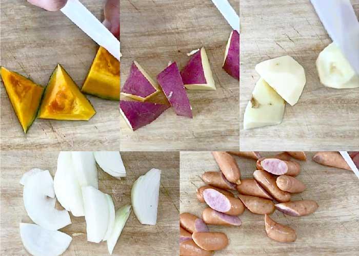 「ウインナーと根菜たっぷりのジャーマンポテト」の作り方画像 1枚目