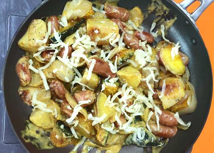 「ウインナーと根菜たっぷりのジャーマンポテト」の作り方画像 5枚目