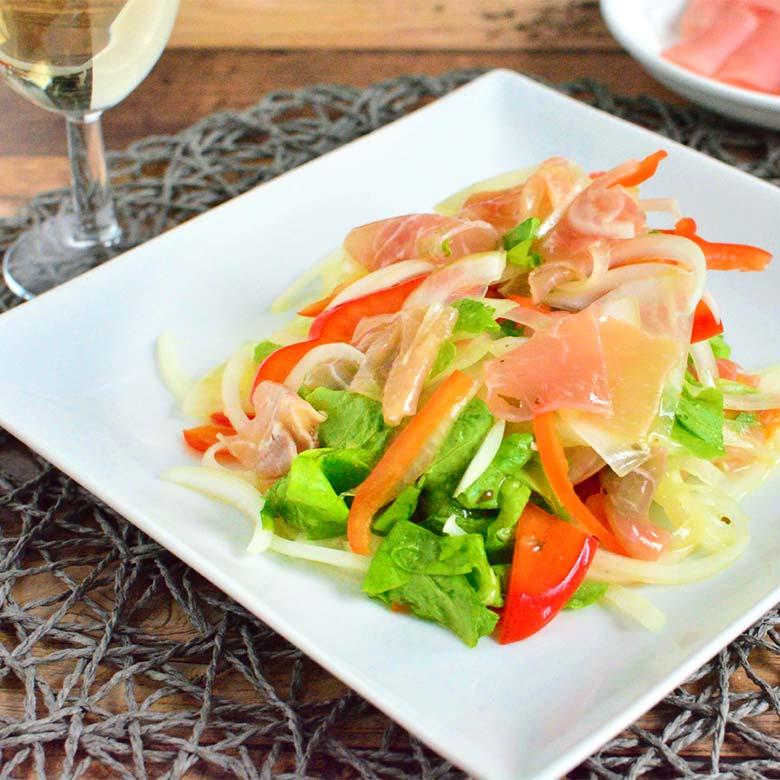 シャキシャキ野菜の生ハムマリネの写真