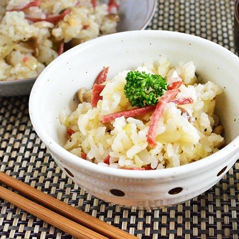 カルパスで作る! 中華風カルパス炊き込みご飯
