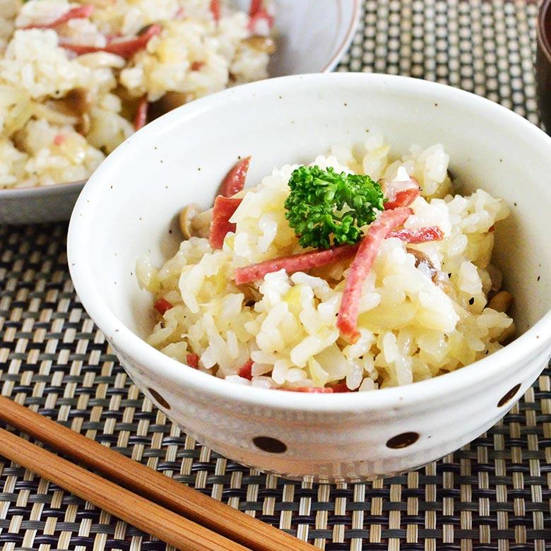 カルパスで作る! 中華風カルパス炊き込みご飯の写真