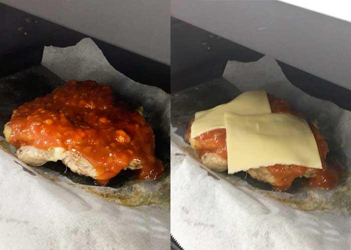 「オーブンにおまかせ!とろけるチーズの鶏もも肉ミート焼」の作り方画像 4枚目