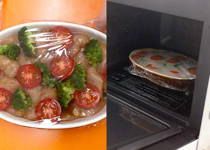 「レンジで簡単!鶏とブロッコリーのチーズ焼き」の作り方画像 4枚目
