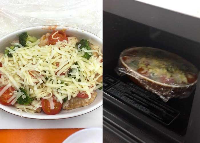 「レンジで簡単!鶏とブロッコリーのチーズ焼き」の作り方画像 5枚目