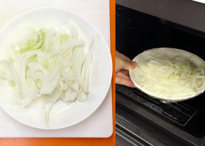 「レンジであっという間!トロトロたまごの親子丼」の作り方画像 2枚目